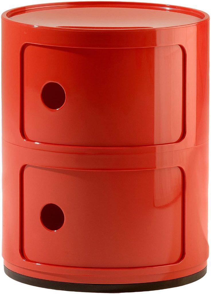 kartell componibili rosso design vintage