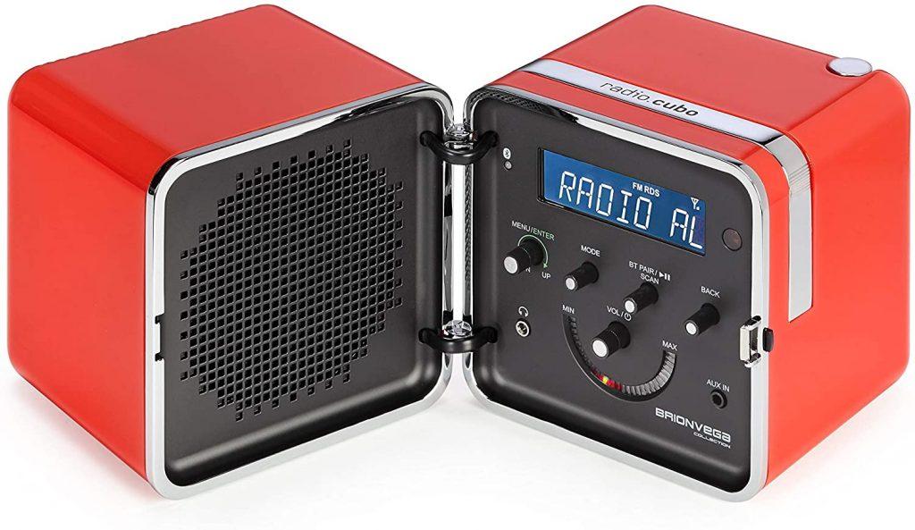 radio BRIONVEGA rossa design vintage