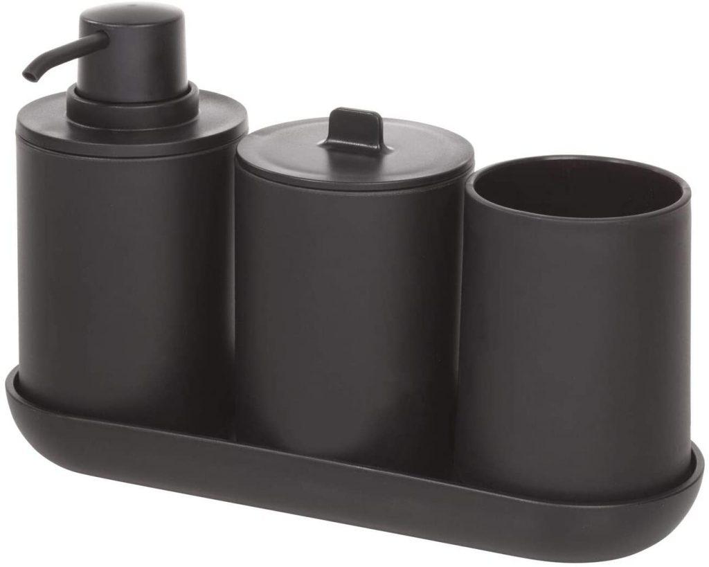 accessori bagno nero neri