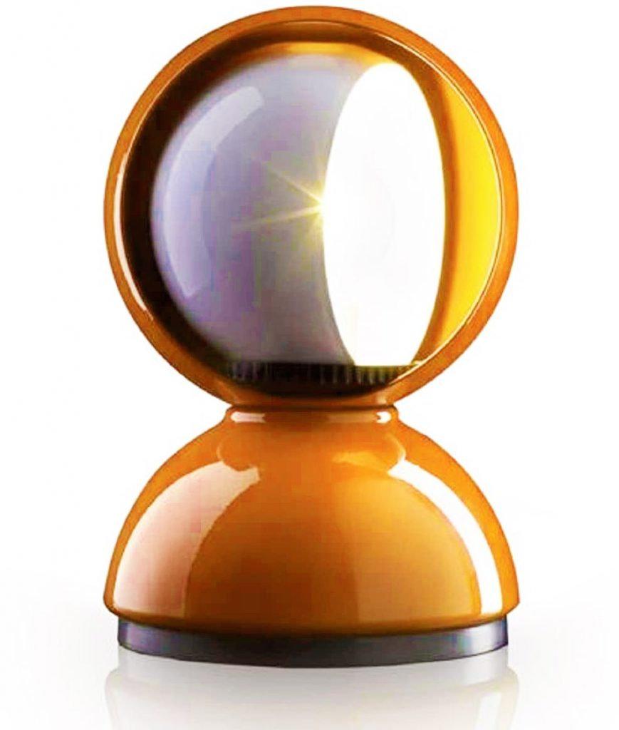 artemide lampada design eclisse arancione stile vintage