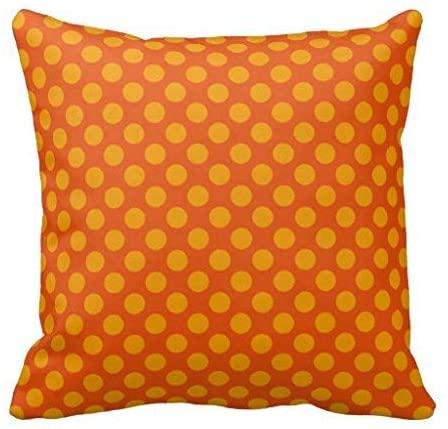 cuscino arancione pois vintage style