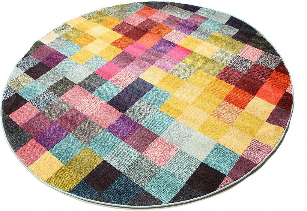 tappeto rotondo multicolor amazon