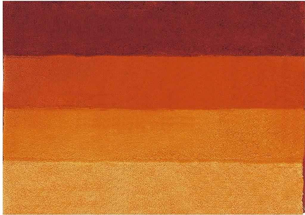 tappeto sfumature arancio