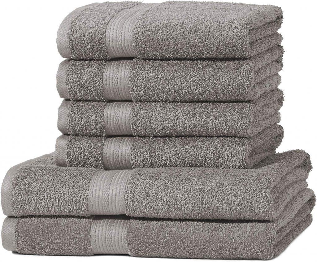 asciugamani spugna grigio chiaro