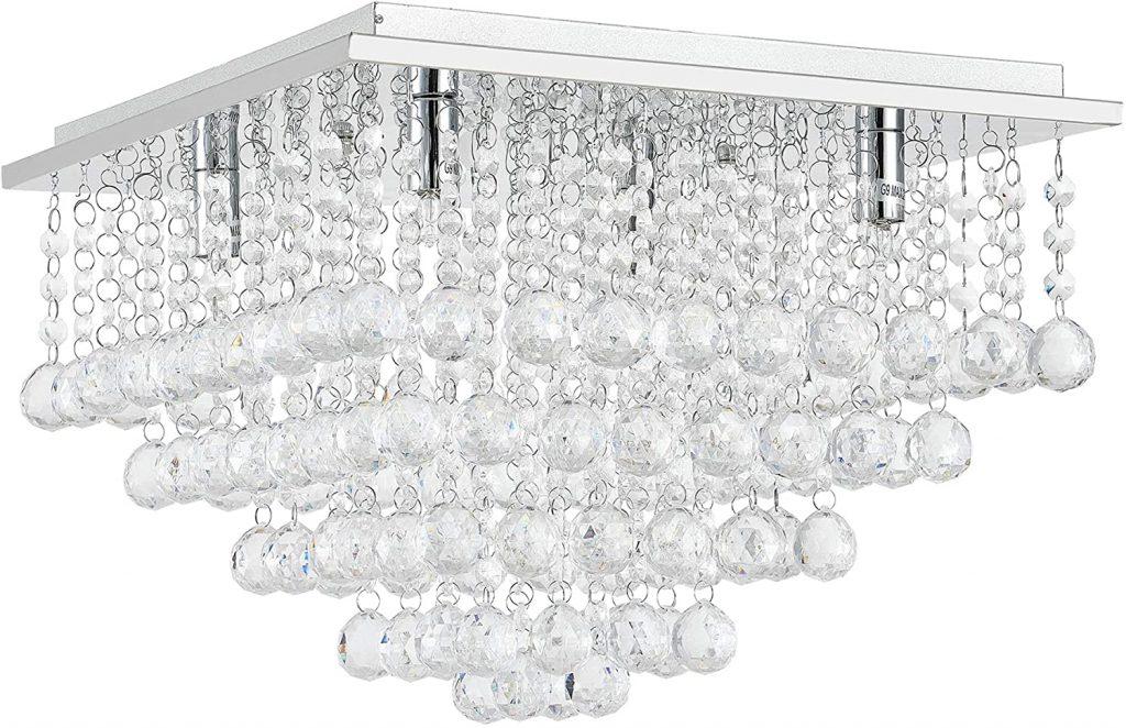 lampadario plafoniera cristalli