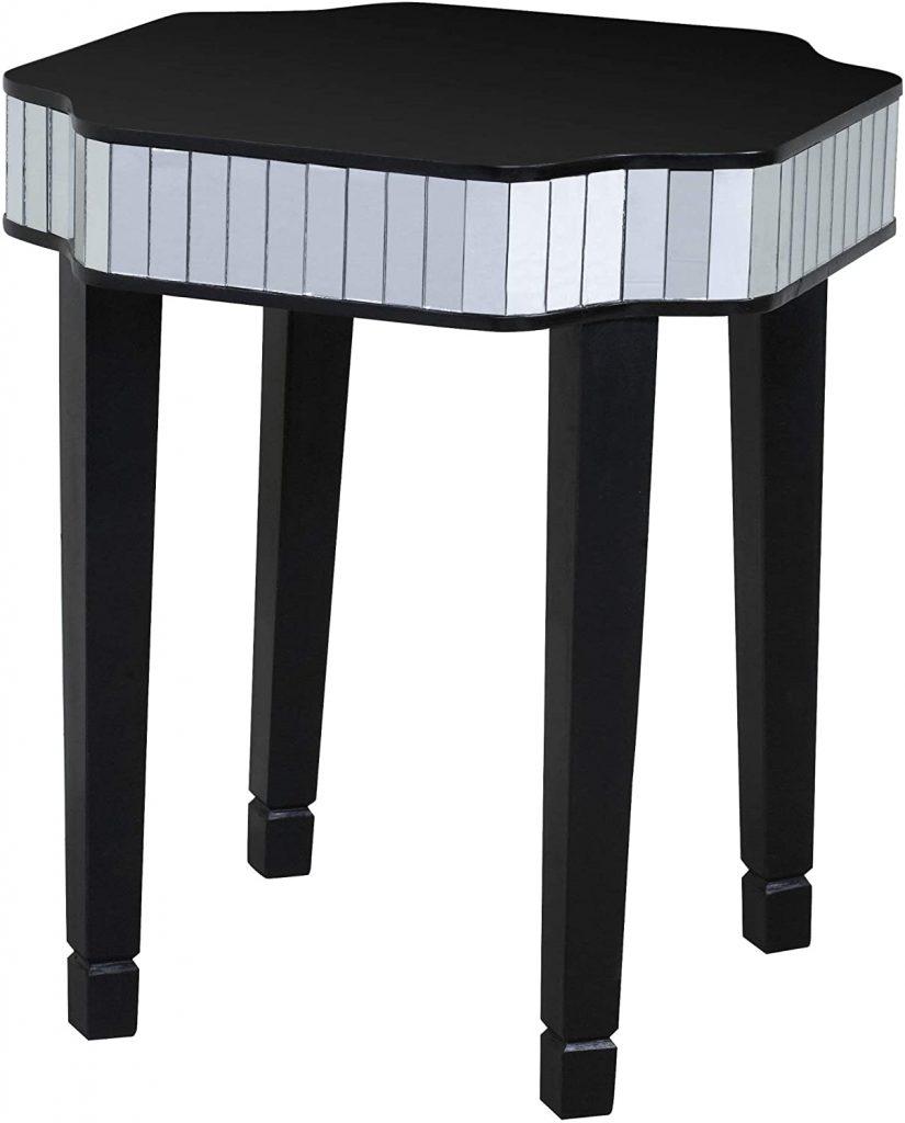sgabello tavolino nero stile classico moderno