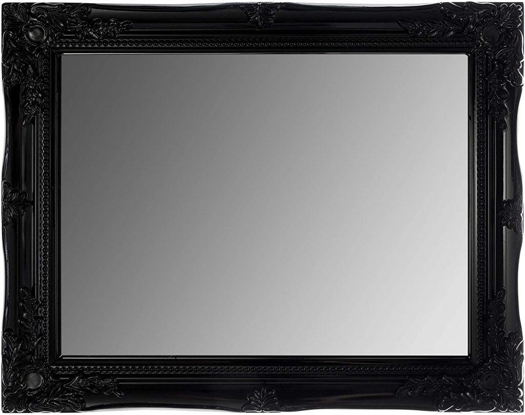 specchio stile classico moderno cornice nera
