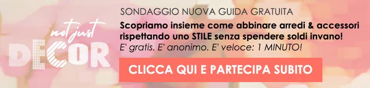 SONDAGGIO STILI ARREDAMENTO ACCESSORI