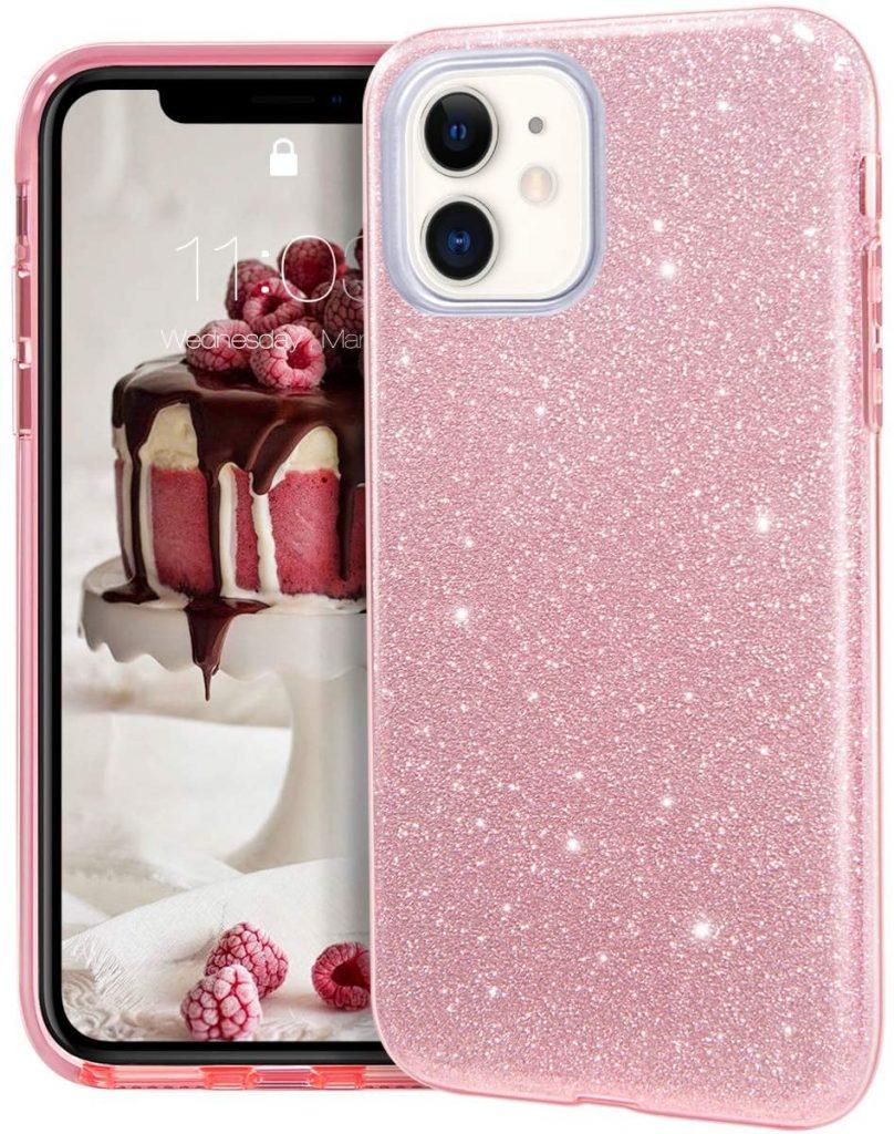 camerette classiche cover trasparente iphone glitter