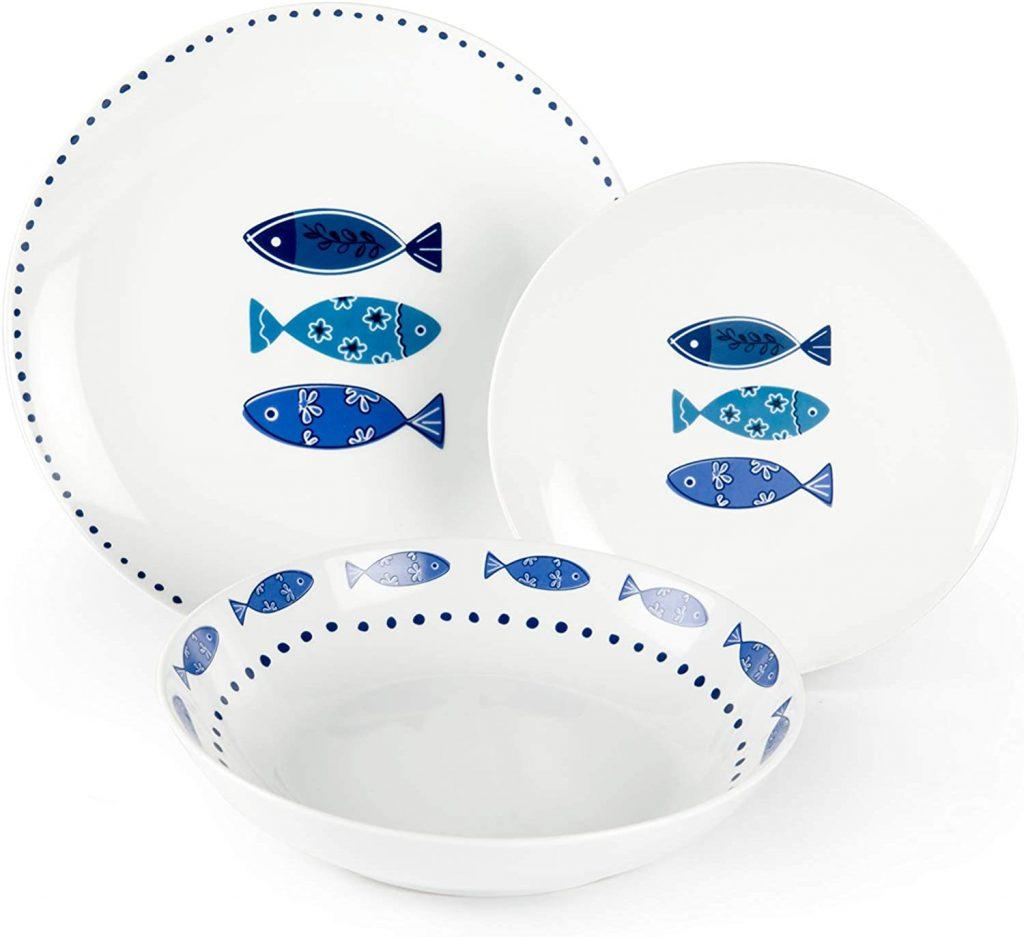 piatti tavola stile mare