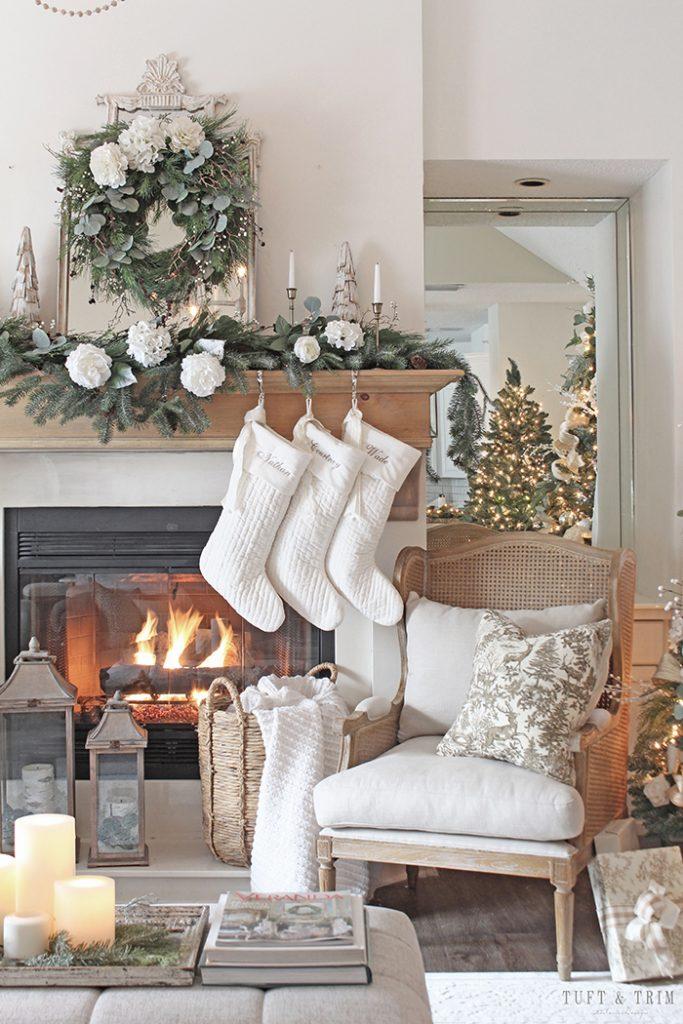 decori natalizi stile shabby